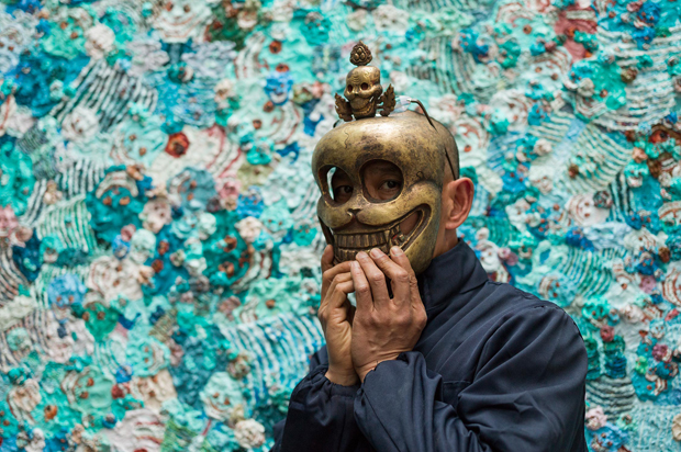 Zhang Huan photographed at Pace London April 24