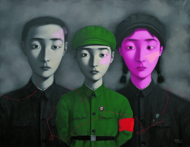 Bloodline - Big Family No 3 (1995) by Zhang Xiaogang